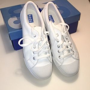 Keds White Leather Sneakers NWT